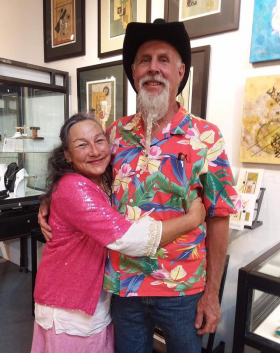 <p>It was so special to see our dear friends, Royce Carlson (our metal artist) and wife, artist Nita Hull tonight! Thank you for coming!</p>