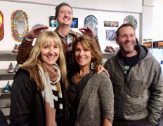 <p>Alex Hortst having fun with Lorina McCabe (L), our jeweler, Chelsea Stone and Dan McCabe.</p>