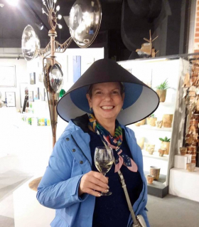 <p>One very happy customer who just purchased a lamp (shade included)!</p>