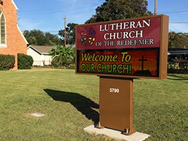 Affordable LED Signs Lutheran Church of the Redeemer Houston, Texas