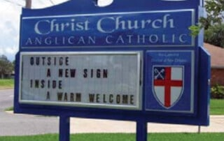 Church Reader Board Sign