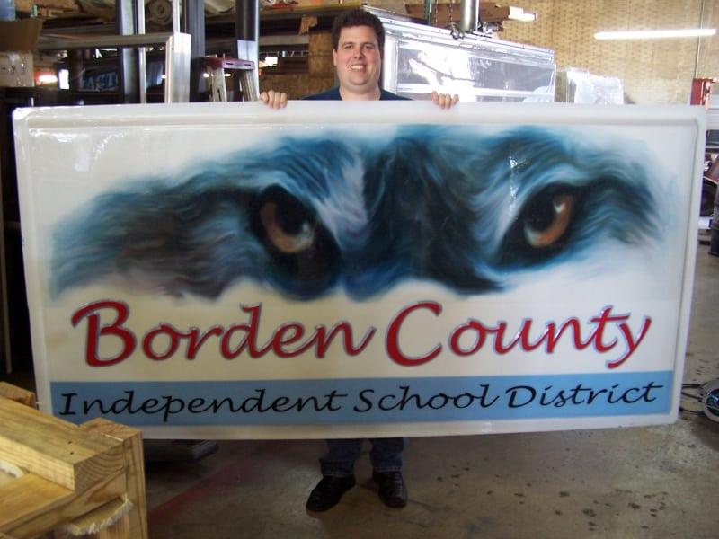 Borden-County-ISD-Gail-TX-Pan-Faced-Illuminated-Sign