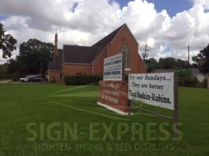 Evangelical Lutheran Church of the Redeemer - Eagle Series by Sign-Express