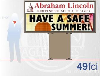 Affordable LED Sign Eagle 49 Full Color