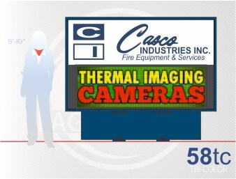 Affordable LED Sign Eagle 58 Tri-Color