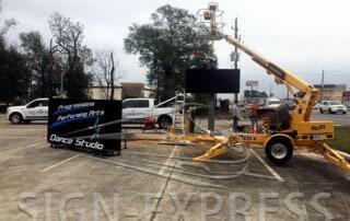 led-sign-install-Progression-Performing-Arts-Houston-TX-Install-3