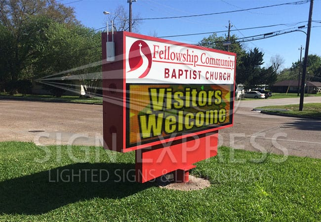 Eagle 48 LED Church Sign