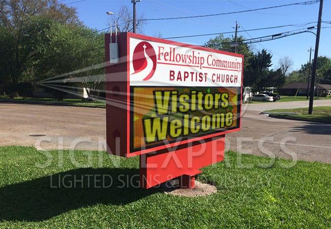 Eagle 48 LED Church Sign