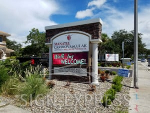 Manatee Cardiovascular Wellness Center LED Monument Sign Bradenton FL