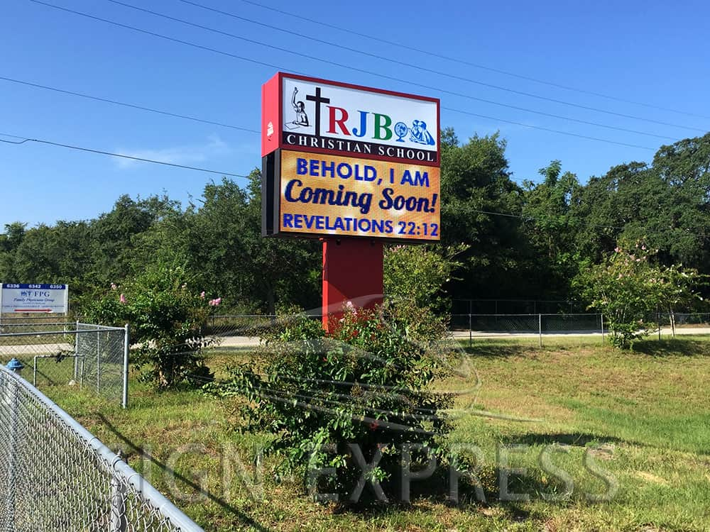 RJB Christian School LED Sign Orlando, FL