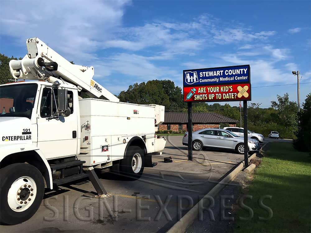 Stewart County Community Medical Center LED Sign Dover TN