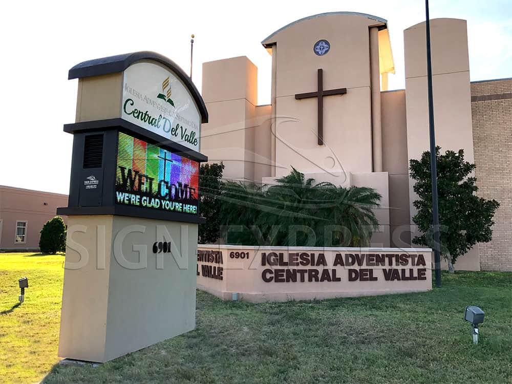 Central Del Valle Iglesia Adventista del Septimo Dia LED Church Sign