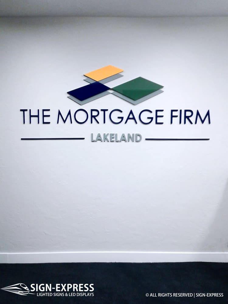 The Mortgage Firm Lakeland FL Custom Letter Sign