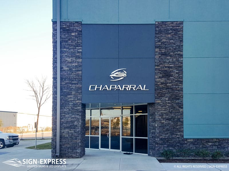 Chaparral Humble TX Custom Business Sign