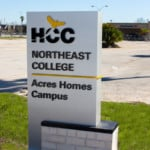 hcc houston community college custom routed school sign