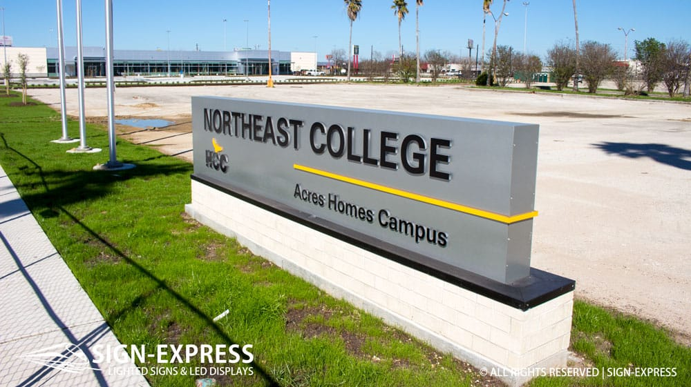HCC Custom Routed School Sign by Sign-Express