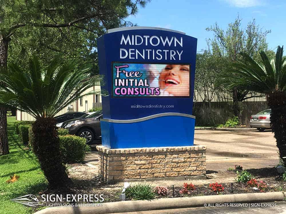 Midtown-Dentistry-Houston-TX-Medical-LED-Sign