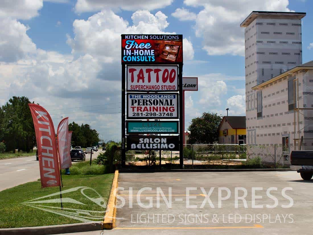 Kitchen-Solutions-Woodlands-Texas-Business-LED-Sign-Install