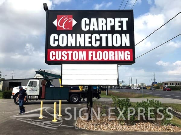 Carpet-Connection-LED-Retrofit-Sign-Renovation-Houston-Texas-AFTER
