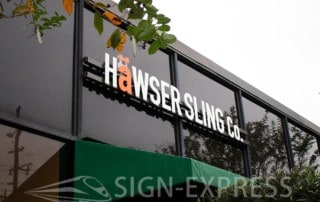 Hawser Sling Houston Custom Business Sign