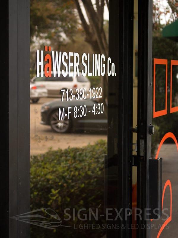 Hawser-Sling-Houston-Texas-Custom - Vinyl Business Sign