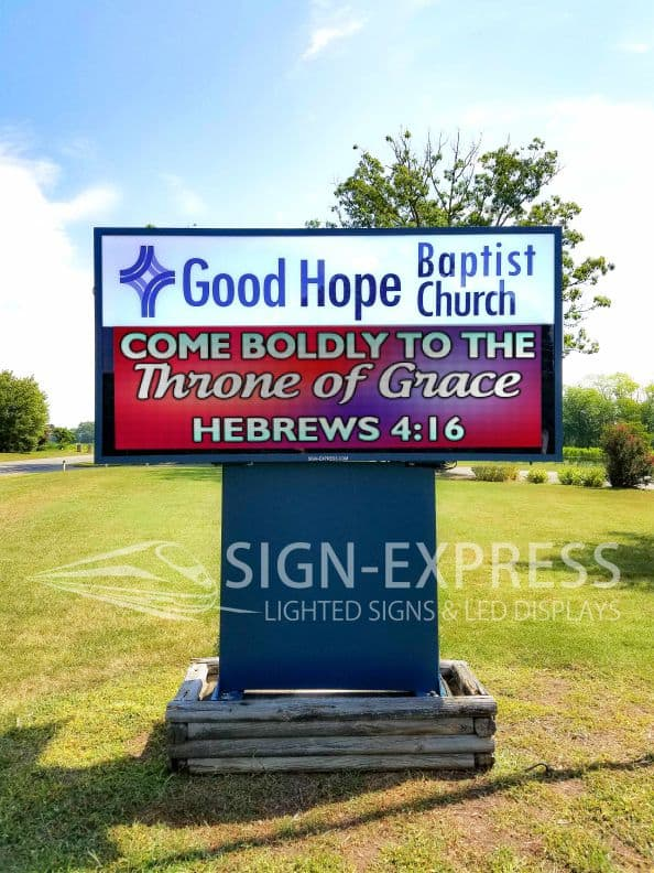 Good Hope Baptist Church Eagle Series LED Sign Spotsylvania, VA by Sign-Express