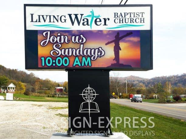 Living Water Baptist Church LED Sign – Sardis, OH