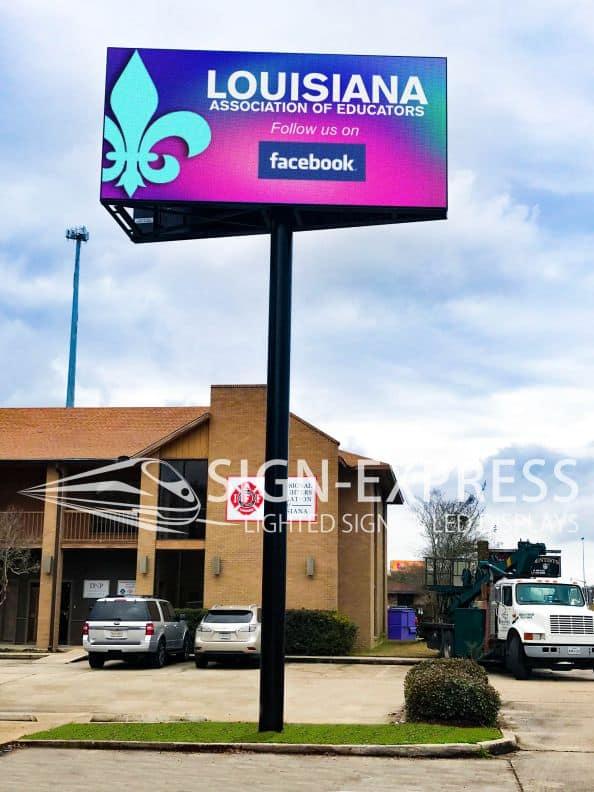 Louisiana Association of Educators LED Billboard – Baton Rouge, LA