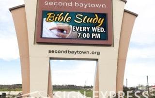 Second-Baptist-Church-LED-Sign-Baytown-TX