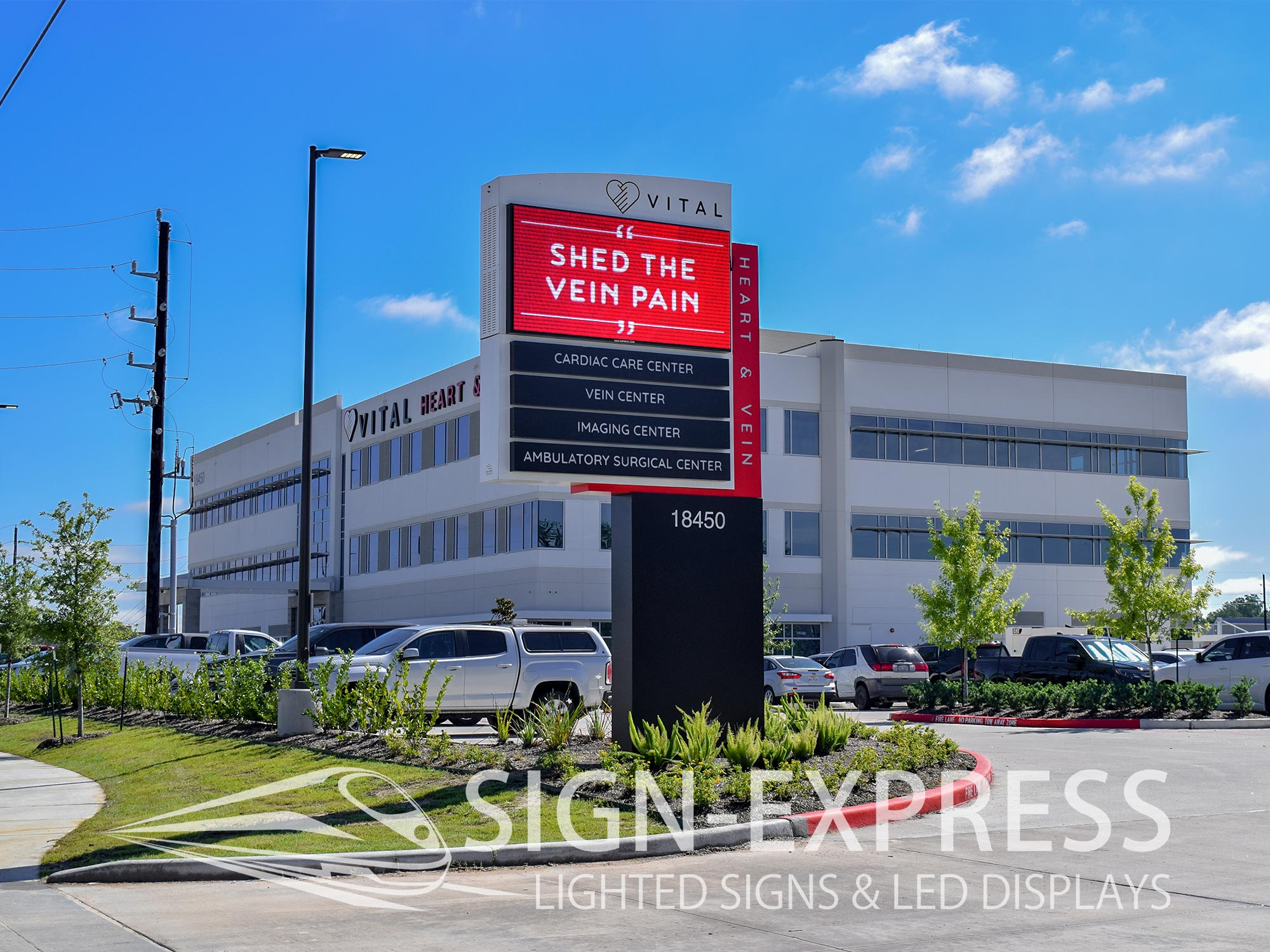 Vital Heart & Vein Medical Office Signage Solution – Humble, TX