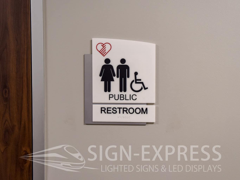 Vital Heart & Vein ADA Room Signs