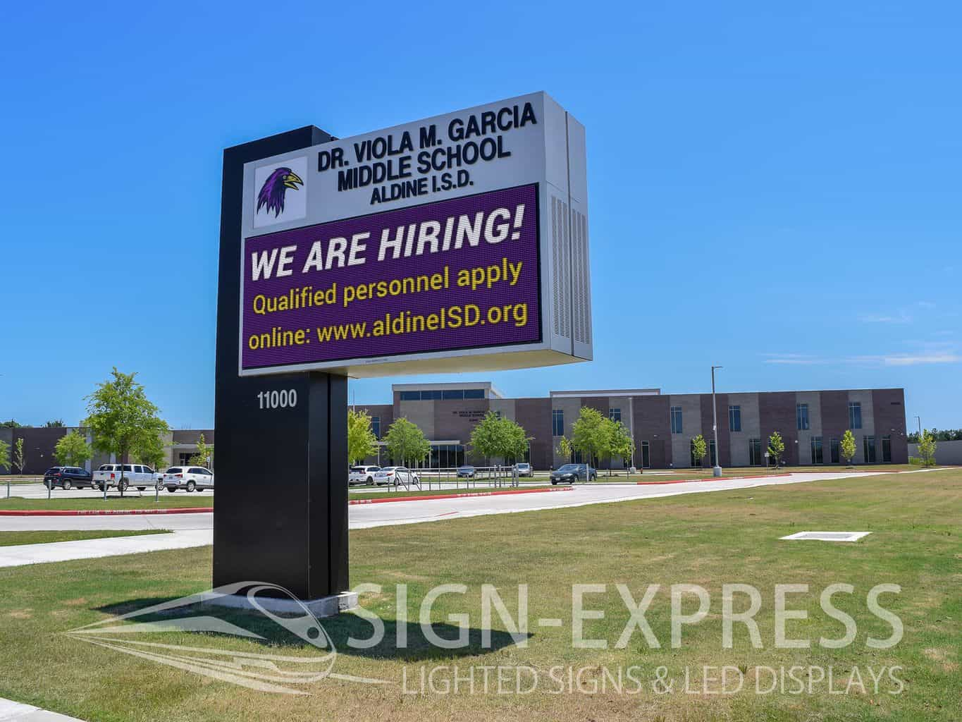 Aldine ISD LED School Sign