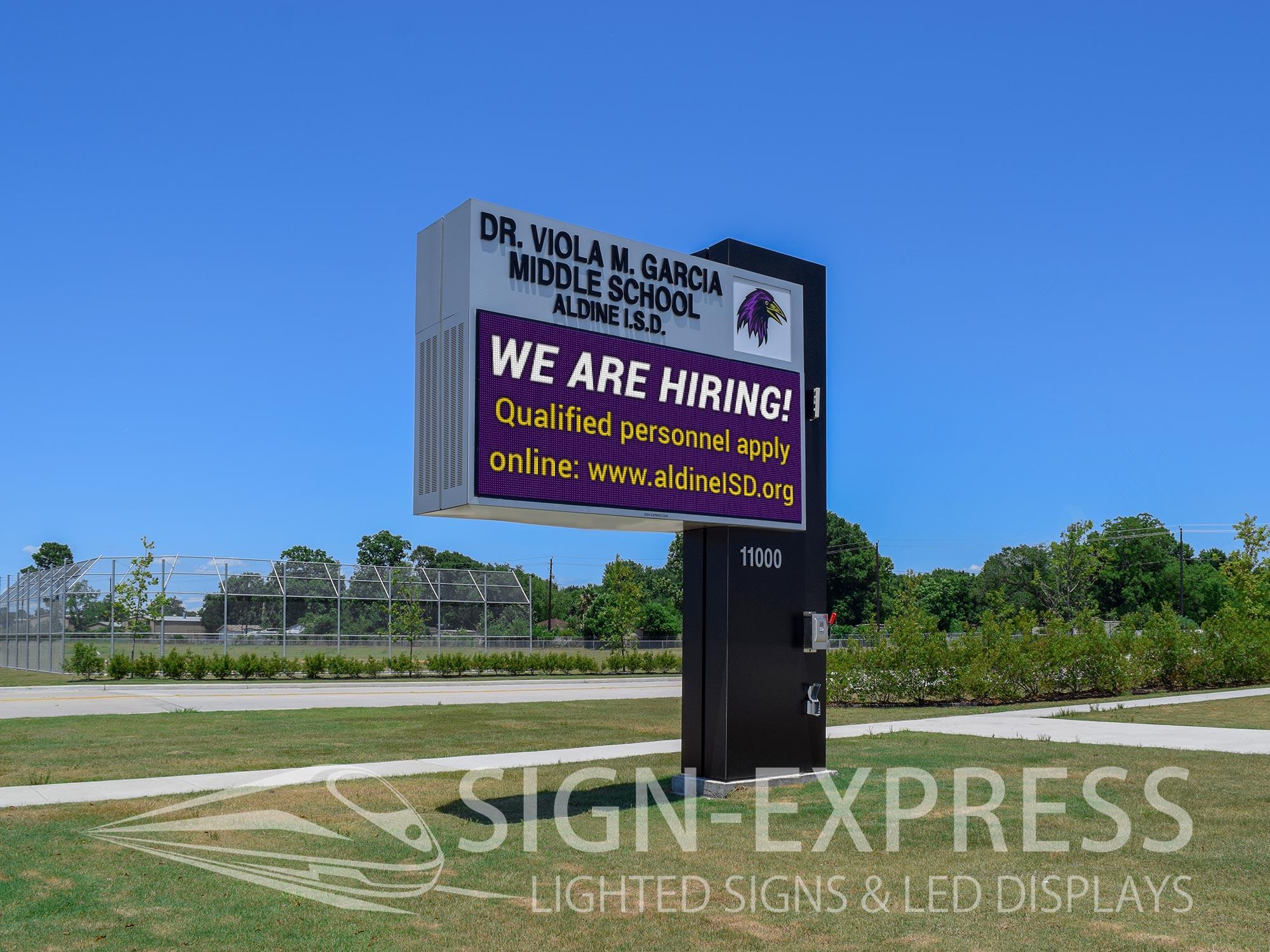 Aldine ISD LED School Sign