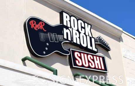 Rock N Roll Channel Letter Sign