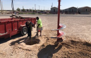 Permian 1 Stop Sign Install - Hole Dig