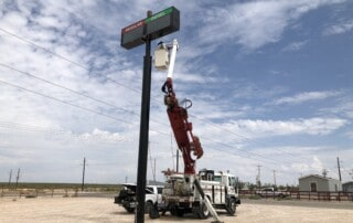Permian 1 Stop Sign Install - First Stage
