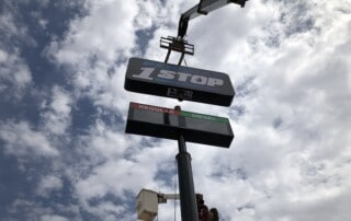 Permian 1 Stop Sign Install - Final Stage Lift