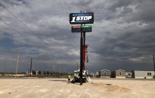 Permian 1 Stop Sign Install - Final Touches