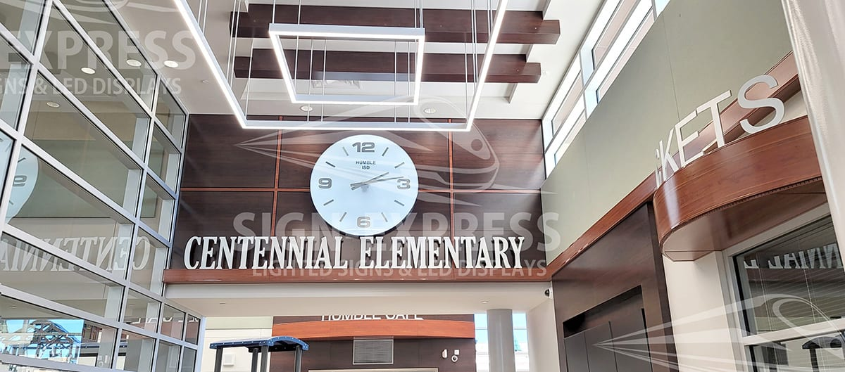 Humble ISD Custom Lighted School Clock – Humble, TX