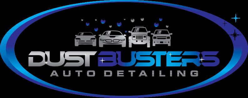 Dustbusters Auto Detailing Homepage Logo Red Deer, Alberta