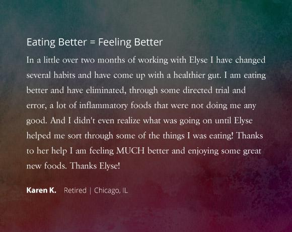 Eating Better = Feeling Better
