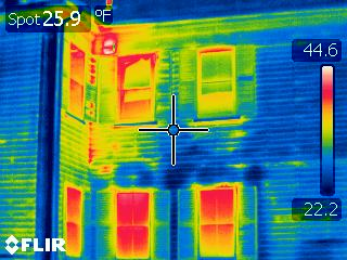 ifrared scan-exterior wall-missing insulation