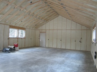 close-cell-spray-foarm-insulation, Ashfield, MA
