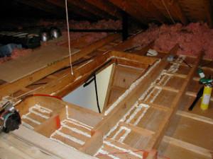 air seal attics insulation