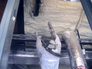 spray foam insulation in church basement