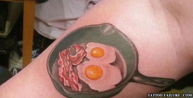 bacon and eggs tattoo