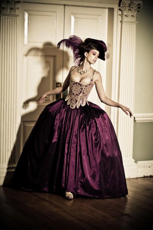 Purple-Damask-dress
