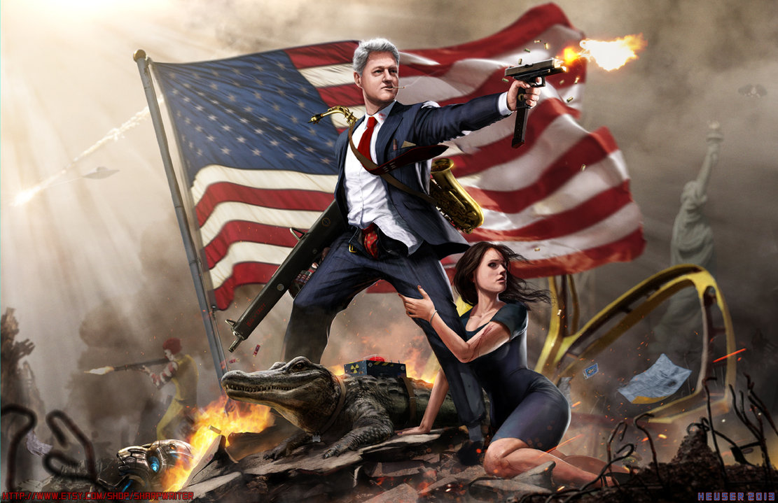 American Presidents Being Totally Badass Artwork