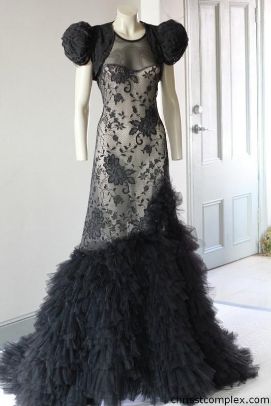 black-frilly-dress