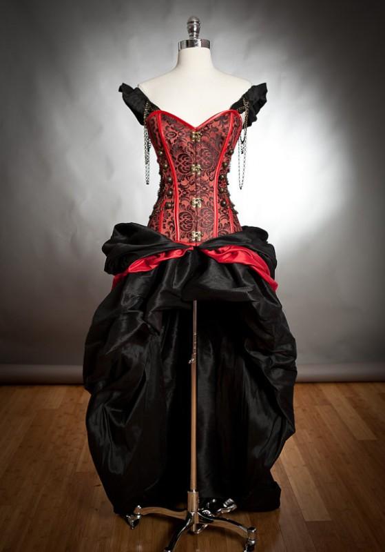 black-red-dress